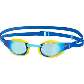speedo Fastskin Elite Mirror Lapset uimalasit , keltainen/sininen